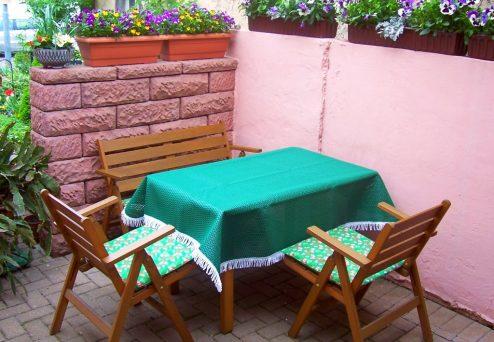 Gästehaus Blick: Terrasse