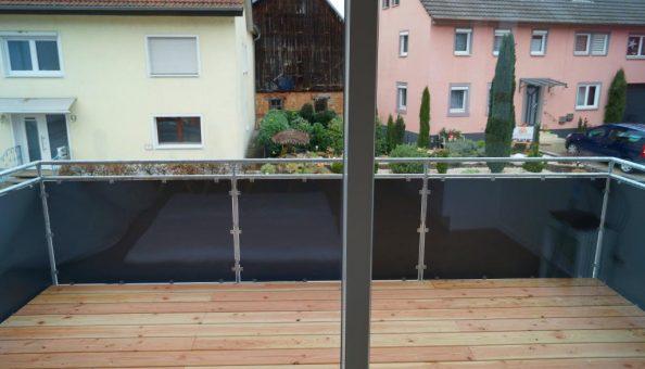 Ferienwohnung Scheune: Balkon (Wohnküche)