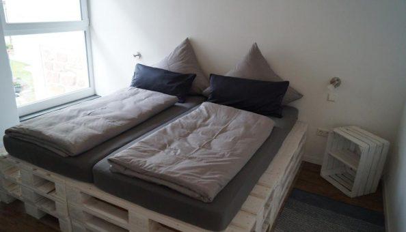 Ferienwohnung Scheune: Doppelbett (Schlafzimmer)